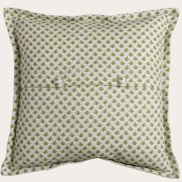 Backing Fern Lime Green – Seated leopard & palm