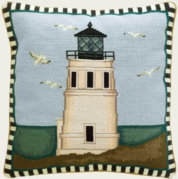 Lighthouse with seagulls
