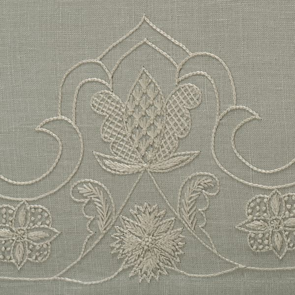 B264 WO Detail – Lund Sprig Off White on Cloud