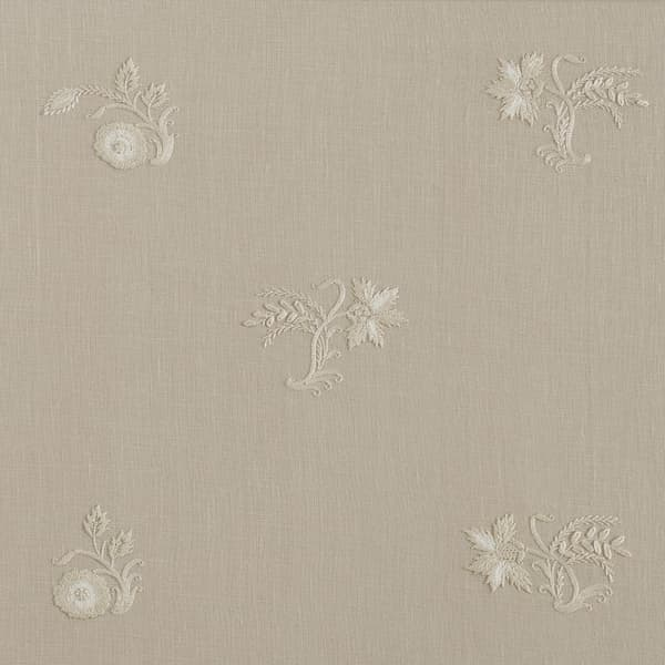 F267 WD Detail 1 – Stockholm Sprig Off white on Clay