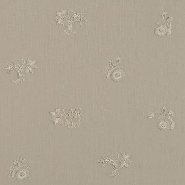 F267 WD – Stockholm Sprig Off white on Clay