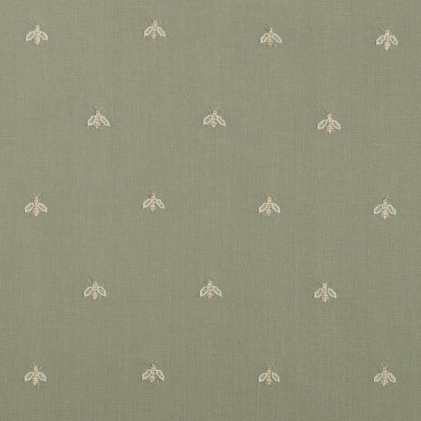 F268 WG – Napolean bees off white on green