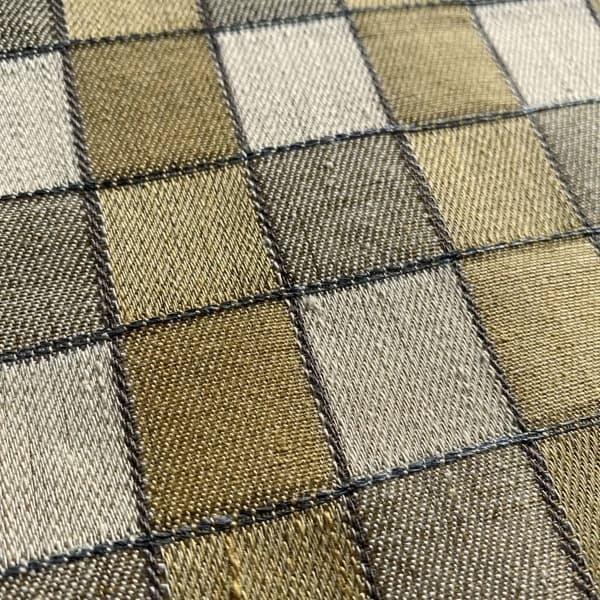 FCL100 01 Detail – Alma Check in Hemp and Sand