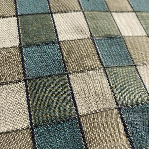 FCL100 03 Detail – Alma Check in Teal and Pigeon