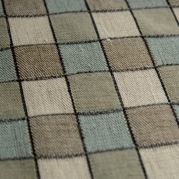 FCL100 04 Detail – Alma Check in Seafoam and Sand