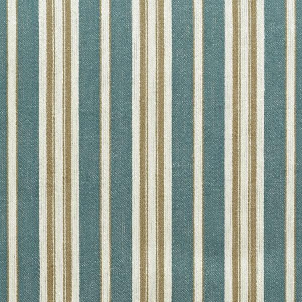 FTS100 01 – Marcel Stripe in Antique Blue & Gold