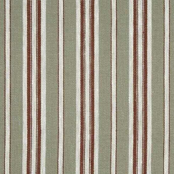 FTS100 07 – Marcel Stripe in Celadon & Mahogany