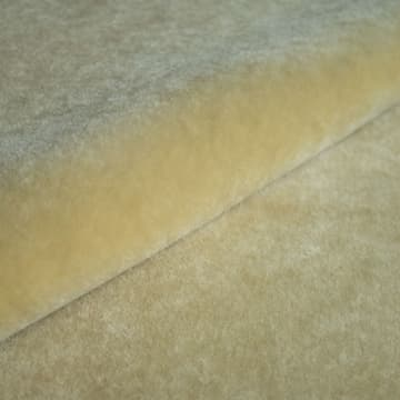 Mohair Velvet in dirty yellow