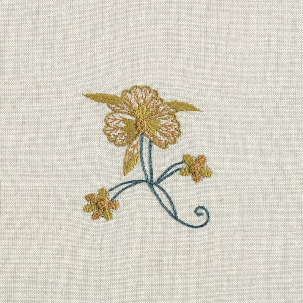 F119 Sp Detail 1 – Forget-me-not & carnation sprig