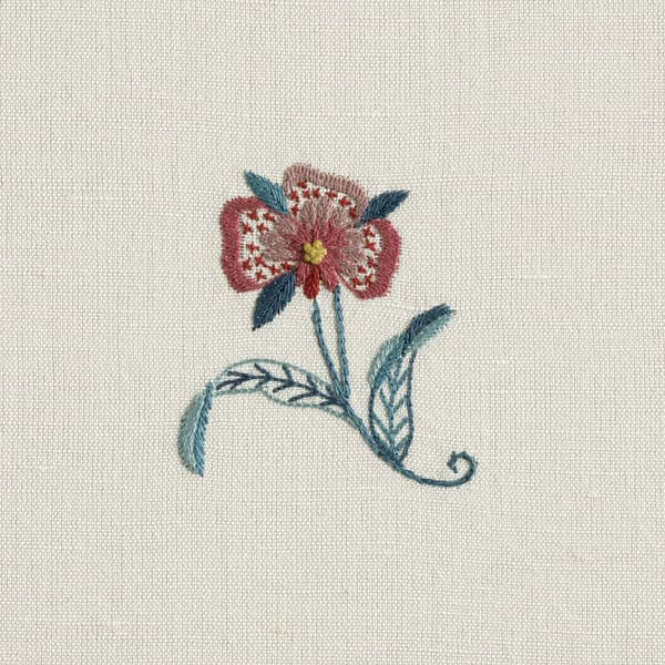 F119 Sp Detail 2 – Forget-me-not & carnation sprig