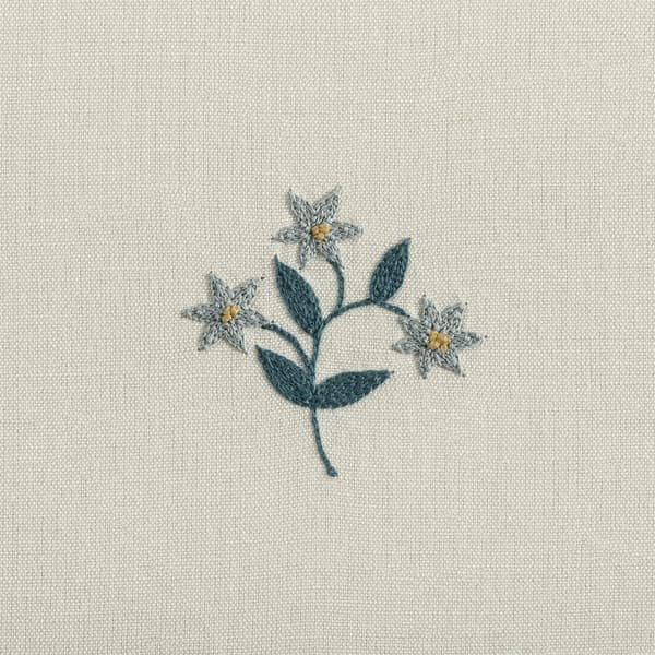 F124 B Detail – Forget-me-not sprig