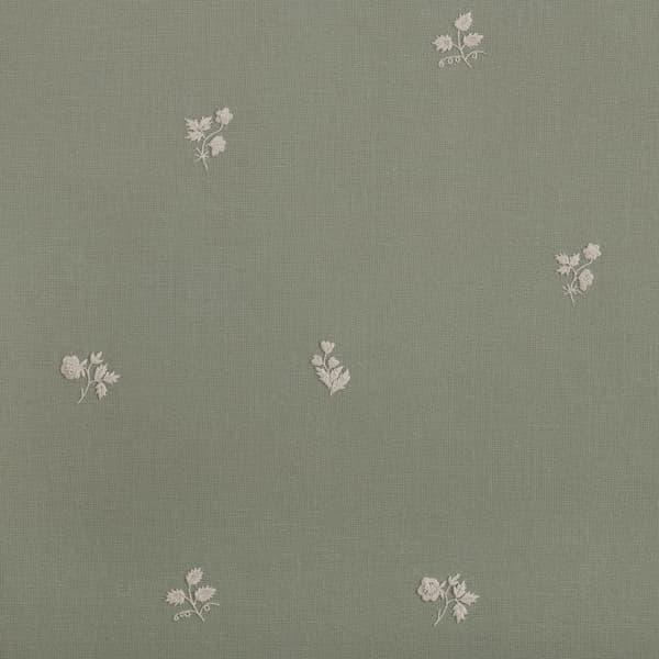 F199 Wg Detail 1 – Sprigs & Leaves White on Green