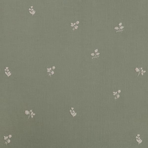 F199 Wg – Sprigs & Leaves White on Green