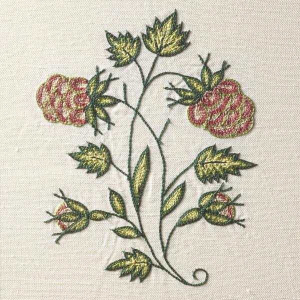 F302 Detail 1 6 – Raspberry & Cornflowers