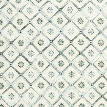 Daisy trellis in indigo with seafoam
