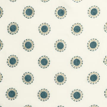 Dots in indigo with dashes in indigo/gold