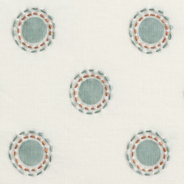 Fp3201 Sr Detail – Dots in seafoam with dashes in seafoam/rust