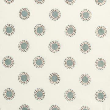 Dots in seafoam with dashes in seafoam/rust