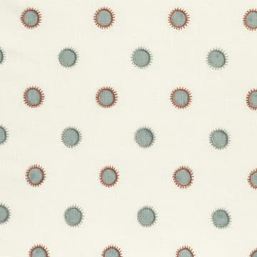 Dots in seafoam with sun in seafoam/rust