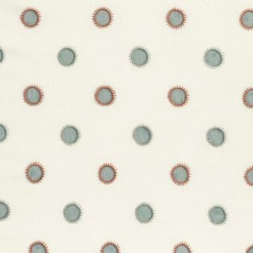 Dots in seafoam with sun in seafoam/rust