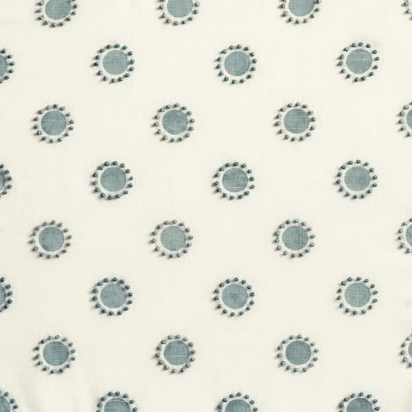 Fp3401 S – Dots in seafoam with french knots in seafoam