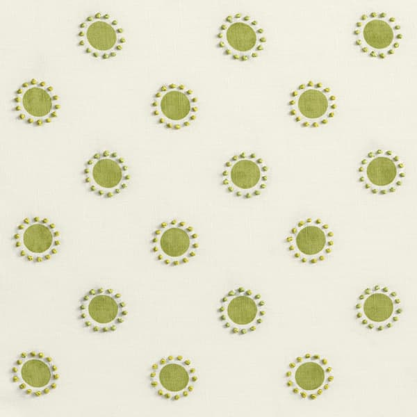 Fp3402 L – Dots in lime with french knots in lime