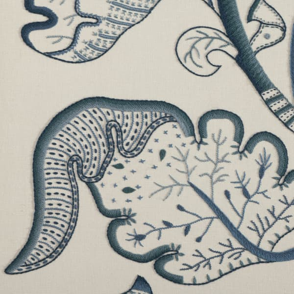 F677 Detail 2 – Large Tree of Life in Blue Wool