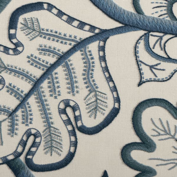 F677 Detail 3 – Large Tree of Life in Blue Wool