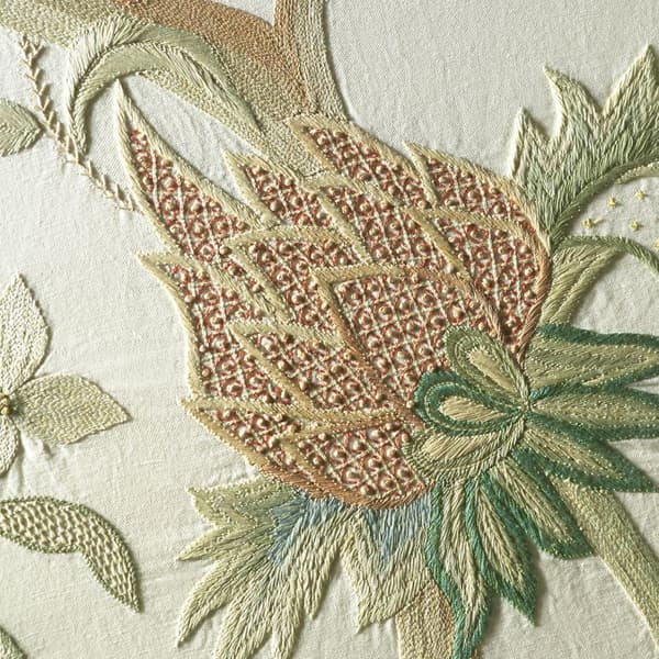 F326 detail – Tree of life with flower & fern