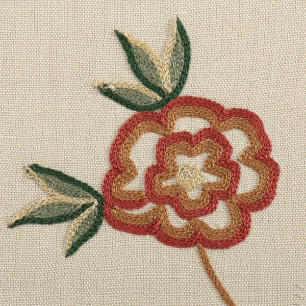 F101 A Detail 3 – Queen Anne vine in rust
