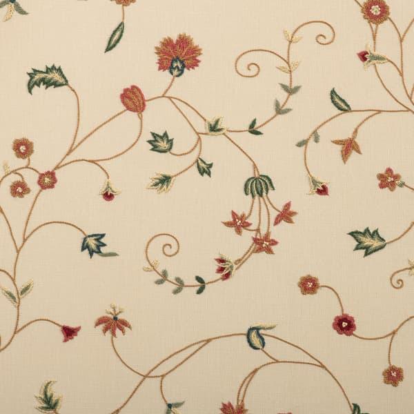 F112 Cr Detail – Carnation & cornflower vine