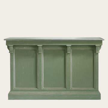 Counter with zinc top