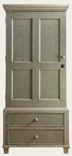 Eng130 36 – Wardrobe with rod & drawers