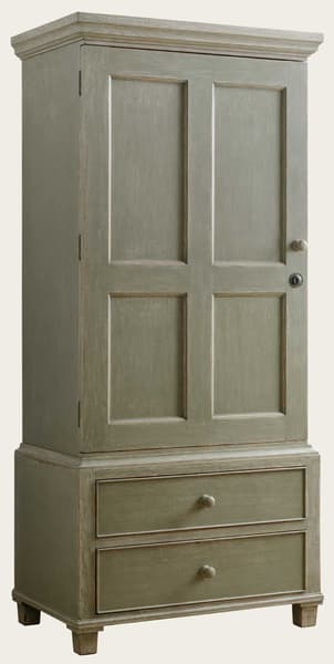 Eng130 36A – Wardrobe with rod & drawers