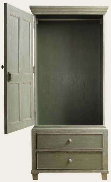 Eng130 36O 1 – Wardrobe with rod & drawers