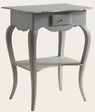 Bedside table with curved legs