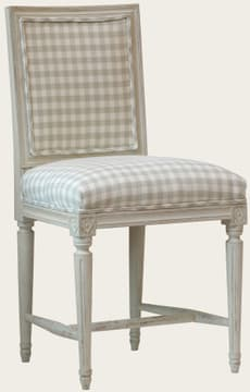 Chair with upholstered back