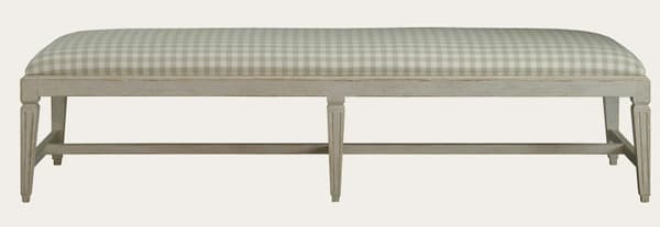 Gus064 1 – Bench with fluted square legs