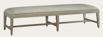 Bench with fluted square legs