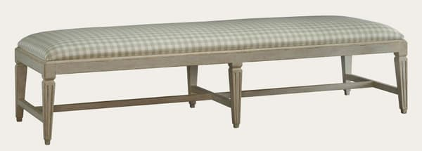 Gus064 8A 1 – Bench with fluted square legs