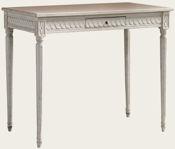 Gus103 5A – Table with carving & drawer