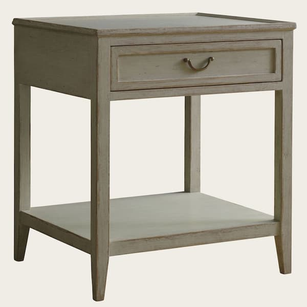 Gus108A 5A 1 – Side table with drawer & shelf