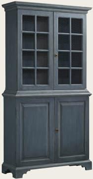 Cupboard with chicken wire doors