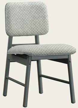 Junior chair with upholstered back
