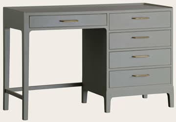 Junior modular desk with five drawers
