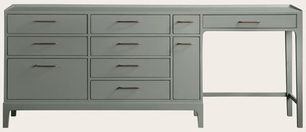 Mid973 J – Junior modular desk with ten drawers