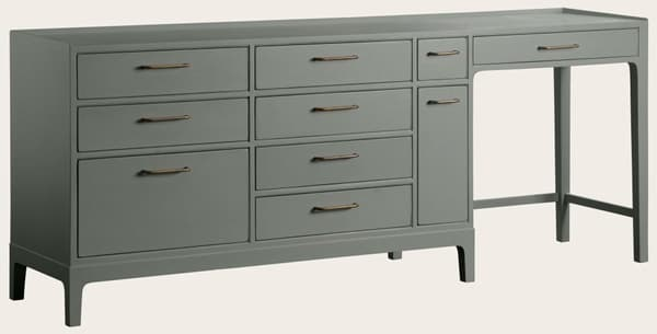 Mid973 Ja – Junior modular desk with ten drawers