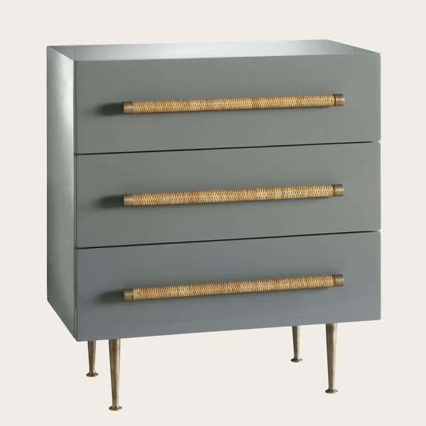 Ct26 16 – Small chest of drawers with wicker handles