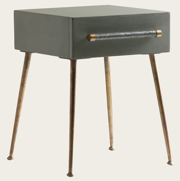 Mid039 13V2 – Bedside table with wicker handle