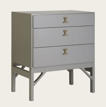 Bedside table with T-bar handles